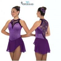 Tunique de patinage Lace drop violette