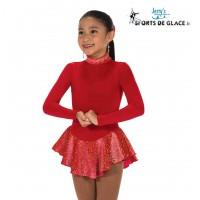 Robe de patinage polaire Finest rouge