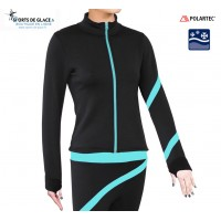 Aqua spiral Fleece skating jacket