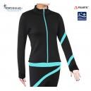 Aqua Spiral Fleece skating jacket
