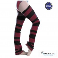 Intermezzo stripped long leg warmers