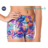 Short de sport Multicolore brillant