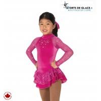 Tunique de patinage Starshine rose