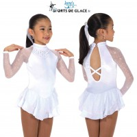 Tunique de patinage Starshine blanche