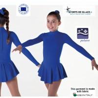 Robe de sport polaire bleue
