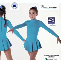 Robe de patinage polaire turquoise