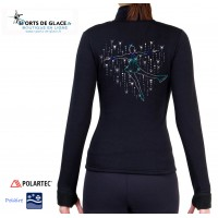 Veste de patinage polaire Patineuse scintillante