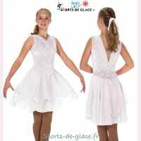 Diamond Pearls white ice dance Dance Dress