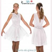 Robe de danse blanche Diamond Pearls