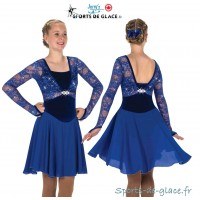 Tiara Twirl Blue ice Dance Dress