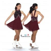 Robe de patinage Eglantine Bordeaux