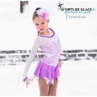 Robe de patinage féérie sur glace