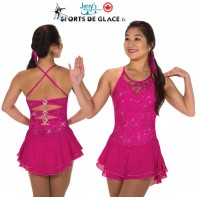 Tunique de patinage Lacy Bows Fuschia