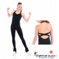 Elite Xpression Black Supplex skating unitard