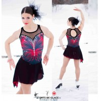 Elite Xpression Red Butterfly Skating dress