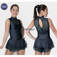 Robe de patinage lycra noir