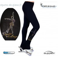 Pantalon de patinage avec motif patineuse brillante