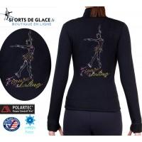 Veste patineuse artistique scintillante