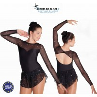 Tunique patinage lycra noir