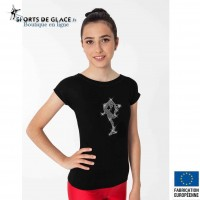 T Shirt patineuse en strass