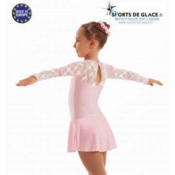 150c19f494 Lace lycra Crystal skating dress