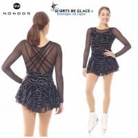Mondor Black glitter velvet dress