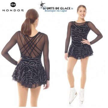Robe De patinage Mondor Black Velvet