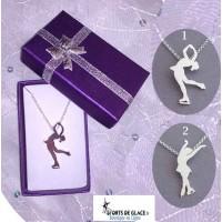 Ice skater necklace