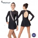 Black skating dress with silver rhinestuds