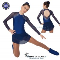 Navy Blue skating dress with rhinestones