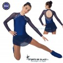 Navy Blue skating dress with rhinestones