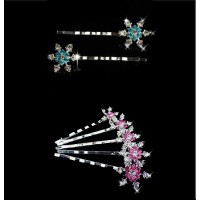 5 Snowflakes HairPins