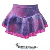 Glitter velvet double skirt