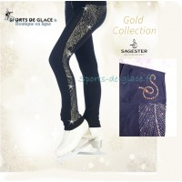 sagester swarovski skating leggings