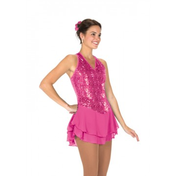 Tunique de patinage rose Sequin Garden S