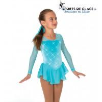 Robe de patinage cristal Rhinestone - Bleu Tiffany