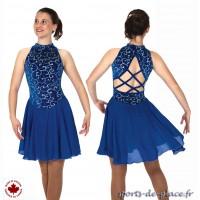 Robe de danse Bolero bleu saphir