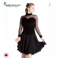 Classical velvet ice dance dress