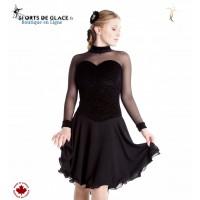 Robe de danse noire Classical