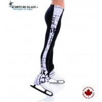Legging de patinage Sk8 noir et blanc