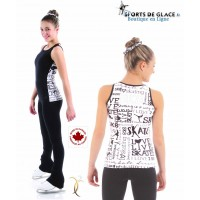 black and white SK8 tank top
