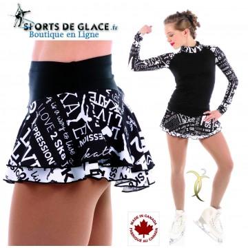 Jupette de patinage Black and White
