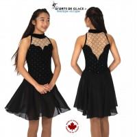 Robe de danse diamant noir