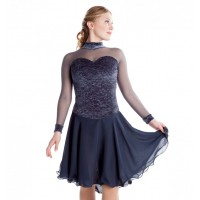 Silver Grey Xpression ice dancing dress