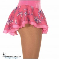 Pink Flowers Double skating skirt