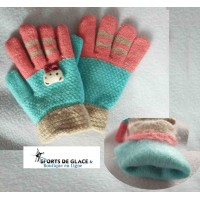 Warm child gloves