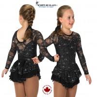 Robe de patinage Noire Love and Lace
