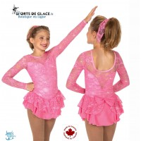 Robe de patinage Rose Love and Lace