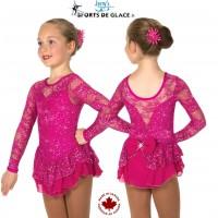 Robe de patinage Fuschia Love and Lace