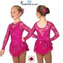Fuschia Love and Lace Dress